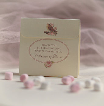 'Vintage Chic' Personalised Wedding Favours