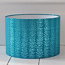 Turquoise Gilded Butterfly Lampshade
