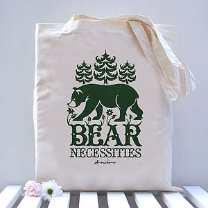 'Bear Necessities' Tote Bag - shopper bags