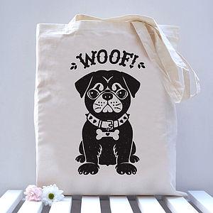 Pug Dog Tote Bag - girls' bags & purses