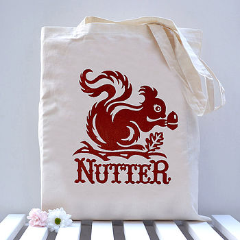 'Nutter' Squirrel Tote Bag
