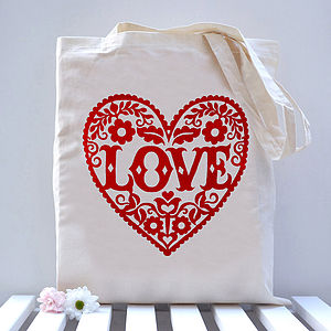 'Love' Heart Tote Bag