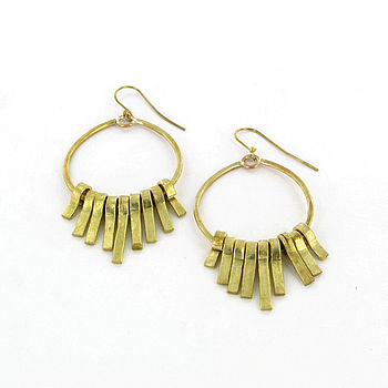 Nungunungu Brass Earrings