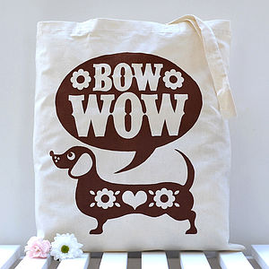 Sausage Dog Tote Bag - bags, purses & wallets