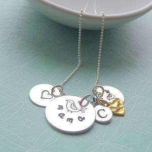 'Mama Bird' Sterling Silver Charm Necklace - bracelets & bangles