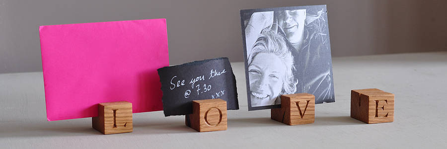 Love Oak Letter Cubes By The Oak Amp Rope Company