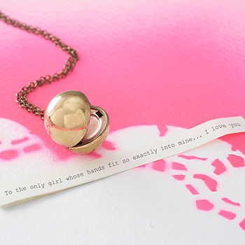 Vintage Orb Locket Necklace