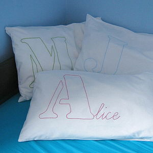 Personalised Hand Stitched Pillowcase - children's room