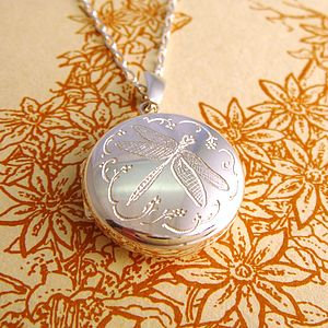 Dragonfly Locket - necklaces & pendants