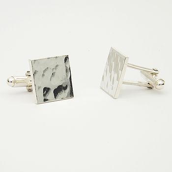 Silver Textured Cufflinks