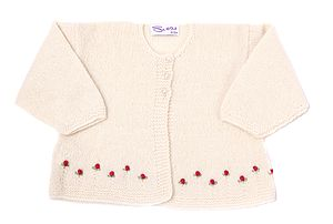 Cashmere Roses Cardigan - clothing