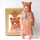 Soft Toy Bear With Glasses And Tie Kit