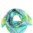 Luxury Green Silk Scarf