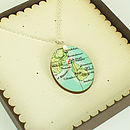 Oval Shaped Map Pendant