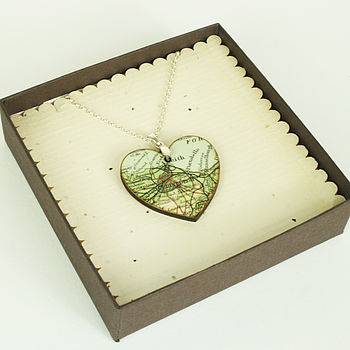 Heart Shaped Map Pendant