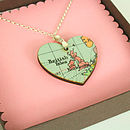 Vintage Map Pendant Necklace