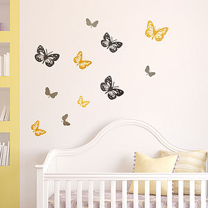 Butterflies Wall Sticker Set - painting & decorating