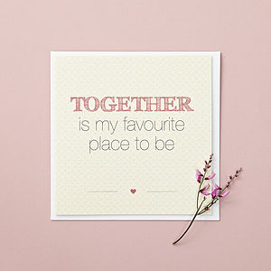 'Together' Quote Card