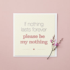 'Nothing' Valentine's Day Card - valentine's cards