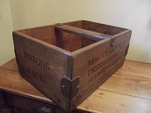Rustic Wooden Advertising Box
