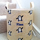 Personalised Boy's Canvas Toy Storage Tub