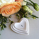 Miniature 'I Love You' Porcelain Heart Tokens