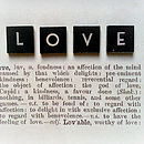 Personalised Vintage Style Definition Of 'Love' Picture