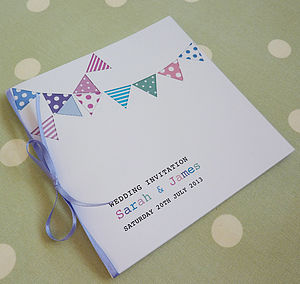 Bunting Personalised Wedding Stationery - shop by price