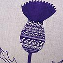 Cotton Thistle Flower Cushion