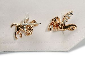 George And The Dragon Cufflinks - cufflinks