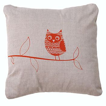Cotton Owl Animal Cushion