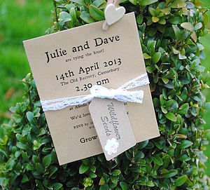 Personalised Seed Packet Wedding Invite - wedding stationery