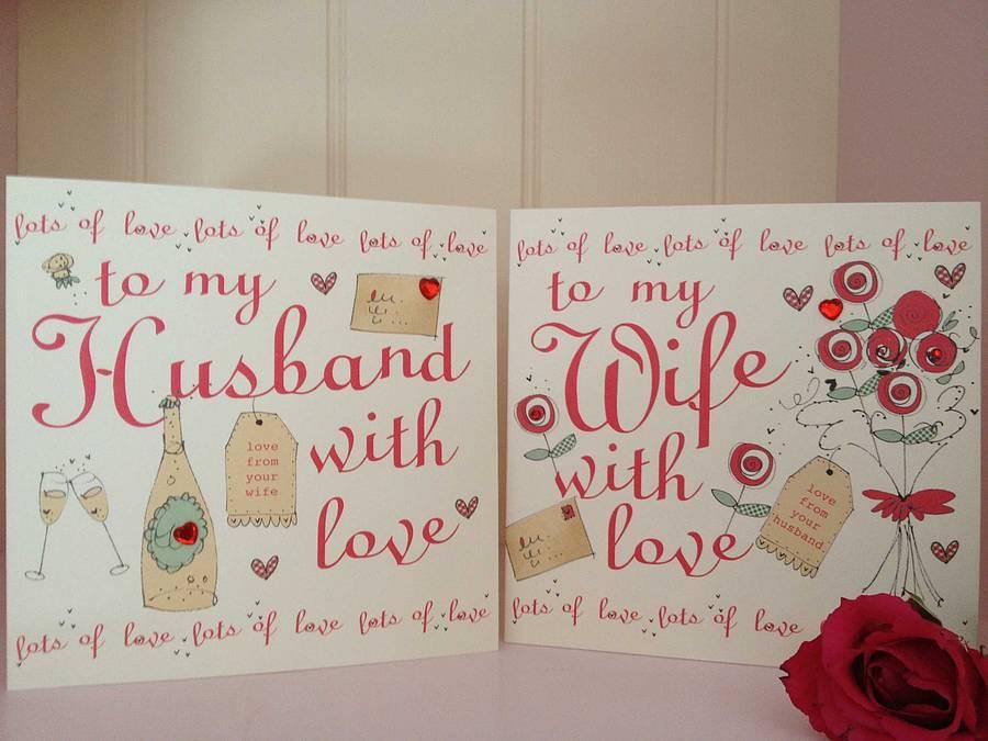 Wedding Anniversary Cards For Husband – Valentine Anniversary Cards