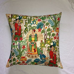Frida Kahlo Floor Cushion - bedroom