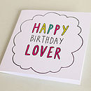 'Happy Birthday Lover' Card