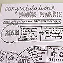 A Guide To Being Married Wedding Card