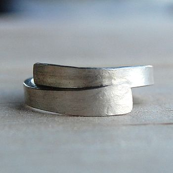 Matt silver wrap ring