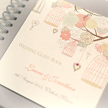 Hanging Birdcages Design Wedding Guest Book