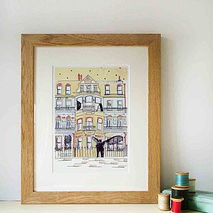 London House Hand Drawn Illustration Print