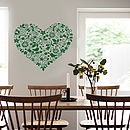 Heart Art Floral Design Wall Sticker