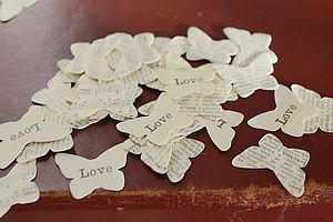 Love Heart Or Butterfly Confetti For Tables - dining room