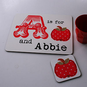 Personalised Initial Placemat - kitchen