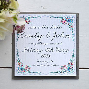 Personalised Summer Wedding Save The Date