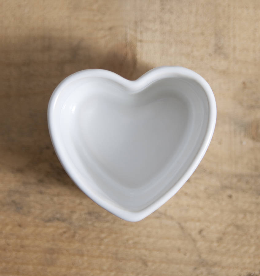Bone China Heart Trinket Pot