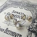 Music Note Small Drop Earrings