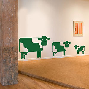 Cow Family Wall Sticker Decal