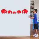 Pig Family Wall Sticker