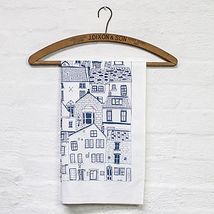 Coastal Cottages Cotton Tea Towel - kitchen linen