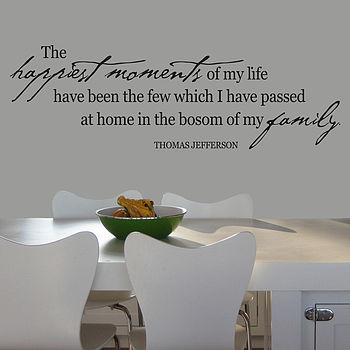 Family Happiest Moments Wall Sticker Decal