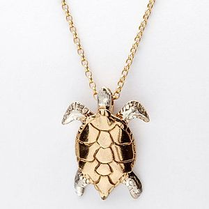 Gold And Silver Turtle Pendant - necklaces & pendants